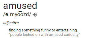amused definition